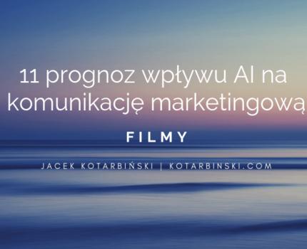 11 prognoz wpływu AI nakomunikację marketingową